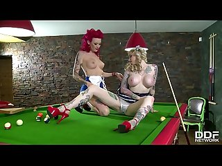 Pinup dolls Becky Holt & Belle Black fulfill their insatiable pussy desires