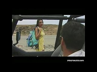Amanda comma blowjob and anal sex in the jeep