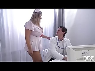 Hot nurse sees the doctor