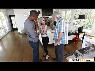 Petite Hottie Gets Rough Interracial Fuck For Daddy's Debt - Alina West