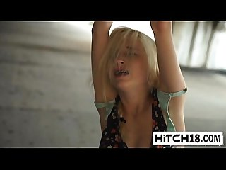 Tied blonde piper perri gets fucked in abandoned place