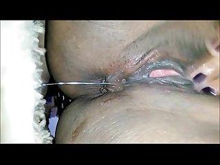 Ebony close up masturbation