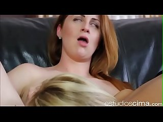 Spanish blonde fucking with american milf