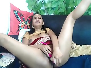Newly married Desi girl fingering masturbation in first night sex alone