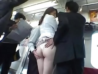 Asian japanese milf wife get S groped by three men on the Train pt2 on hdmilfcam com