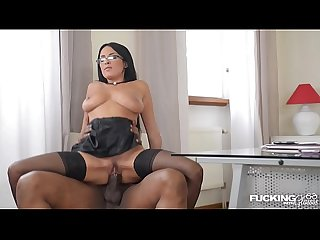 Fucking his boss anissa kate makes black stud blow cum on her nerdy glasses