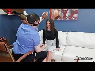 Foxy chick is brought in anal nuthouse for uninhibited therapy