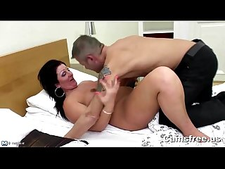 Mature big booty step mom seduces young cock