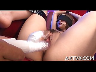 Banging asian chick s moist pussy
