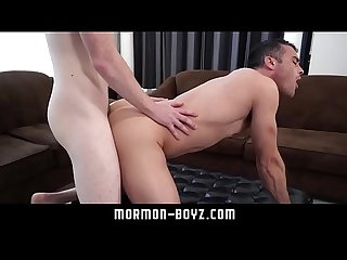 Freckles boy takes raw pounding and facial from daddy MORMON-BOYZ.COM