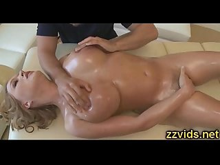 Sweet blonde Krissy Lynn fucked after massage