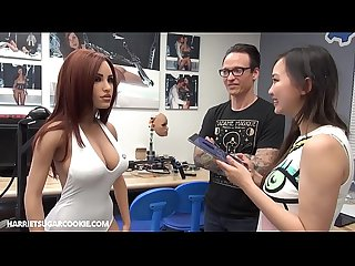 Harriet Sugarcookie looks behind the scenes in RealDoll factory