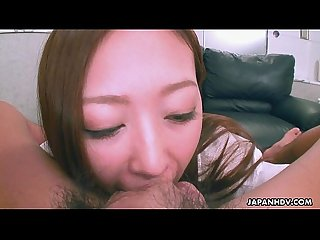 Cute asian Smelling the dick she teases real strong
