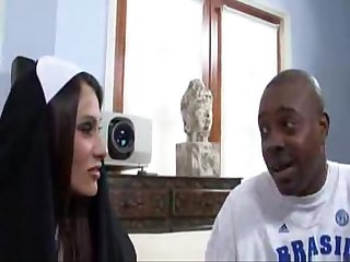 Sheila marie big tits nun fucks a big black dick