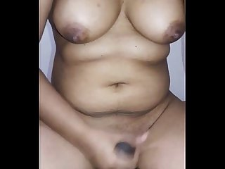 Big boobs desi wife hand job
