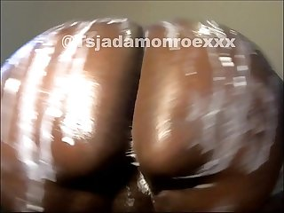 tranny on webcam twerks wet booty