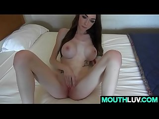 Lip To Lip With Skinny Teen Kaitlyn Shanelle