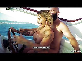CHICAS LOCA - Wild hard fuck on a boat with tattooed Spanish MILF Gina Snake