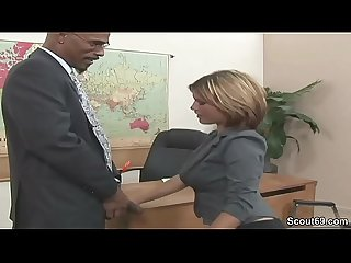 Office milf seduce to fuck by black boss with huge dick