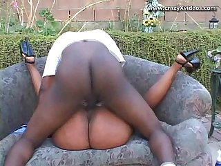Black hottie with nice ass pounded