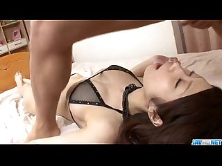 Fuuka takanashi swallows after raw blowjob