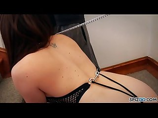 Spizoo pet slut chanel preston is punished by two dicks big booty