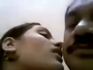 Desi young girl kissing her uncle