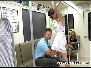 Slut milf violet searching subway for a free ride
