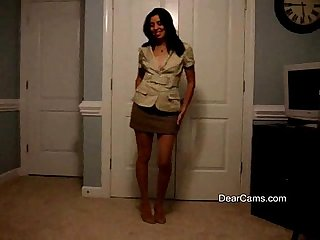 Mature latina private strip dance