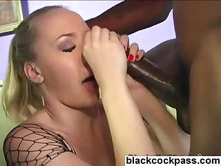 Insane german slut deepthroating giant black cocks
