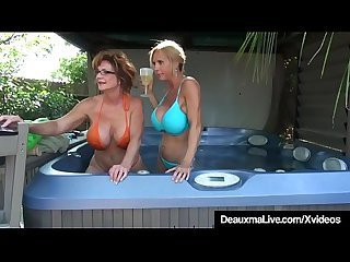 Busty cougars deauxma brook tyler eat pussy on cam excl