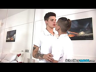 Hot latin boy gets his ass slammed by big cock