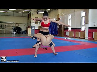 NudeFightClub presents Kerry vs Mira Cuckold