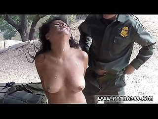 Cop threesome outside border patrol agents found this latina woman