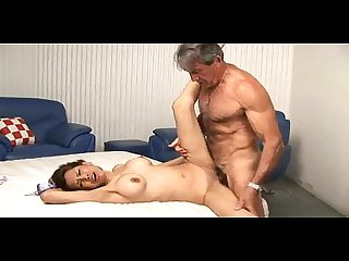 Daddy enjoying sex with young girl