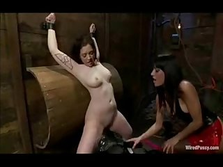 Nasty mistress with a new pussy to wire