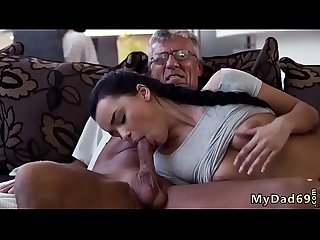 Skinny granny anal old and dad daddy Father patron crony S daughter