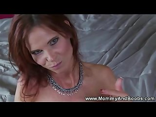 Red head milf gets pussy fucked then swallows cum