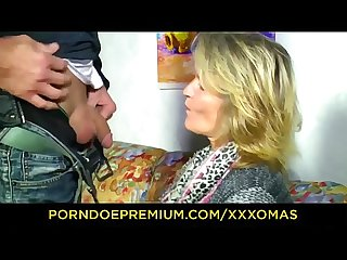 XXX OMAS - German mature blonde with big tits loves hard cock
