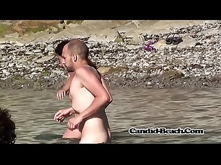 Nice curvy body nudist ladies spied at the beach