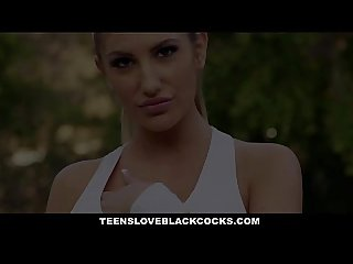 Teensloveblackcocks busty august ames stretched out by bbc coach