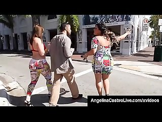 Thick Latina Angelina Castro & Virgo Peridot Suck On A BBC!