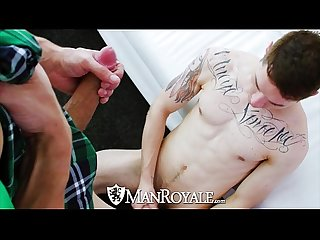 Manroyale nate grimes gets his lucky charm fucked for st patricks day