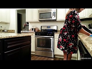 Thick chick smashed in kitchen by home invader