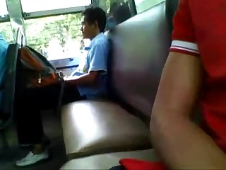 Guy caught jerking on the buss Busted