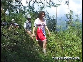 German teen banged in nature