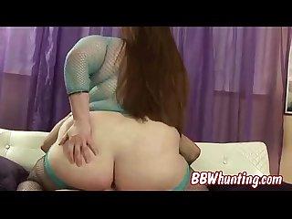 Hot bbw model in hot scene