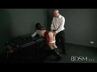 Bdsm Xxx ball gagged submissive girls ass plugged and fucked by her dom