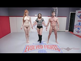 Lauren Phillips Anal Fucking after Mixed Nude Wrestling Fight