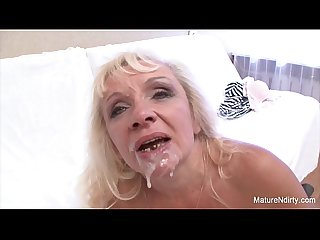 Older blonde gets slammed